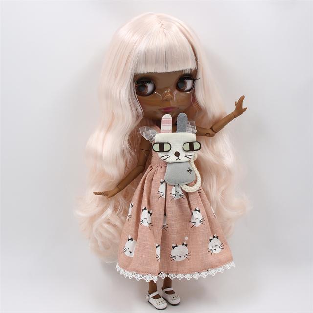 TBL Neo Blythe lutka Blijedo ružičasta bijela kosa spojena tijela