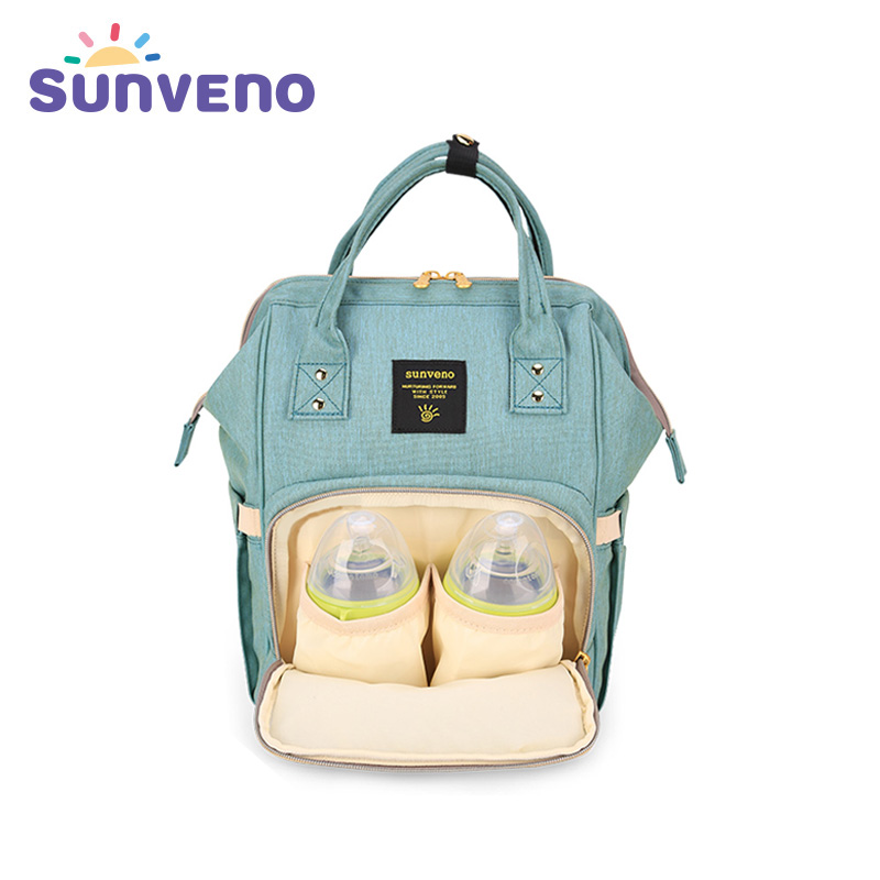 Sunveno Fashion Diaper Bag Multi-function Maternity Nappy Bag Brand Baby Bag M/S SizeTravel Backpack Nursing Bag Baby Care