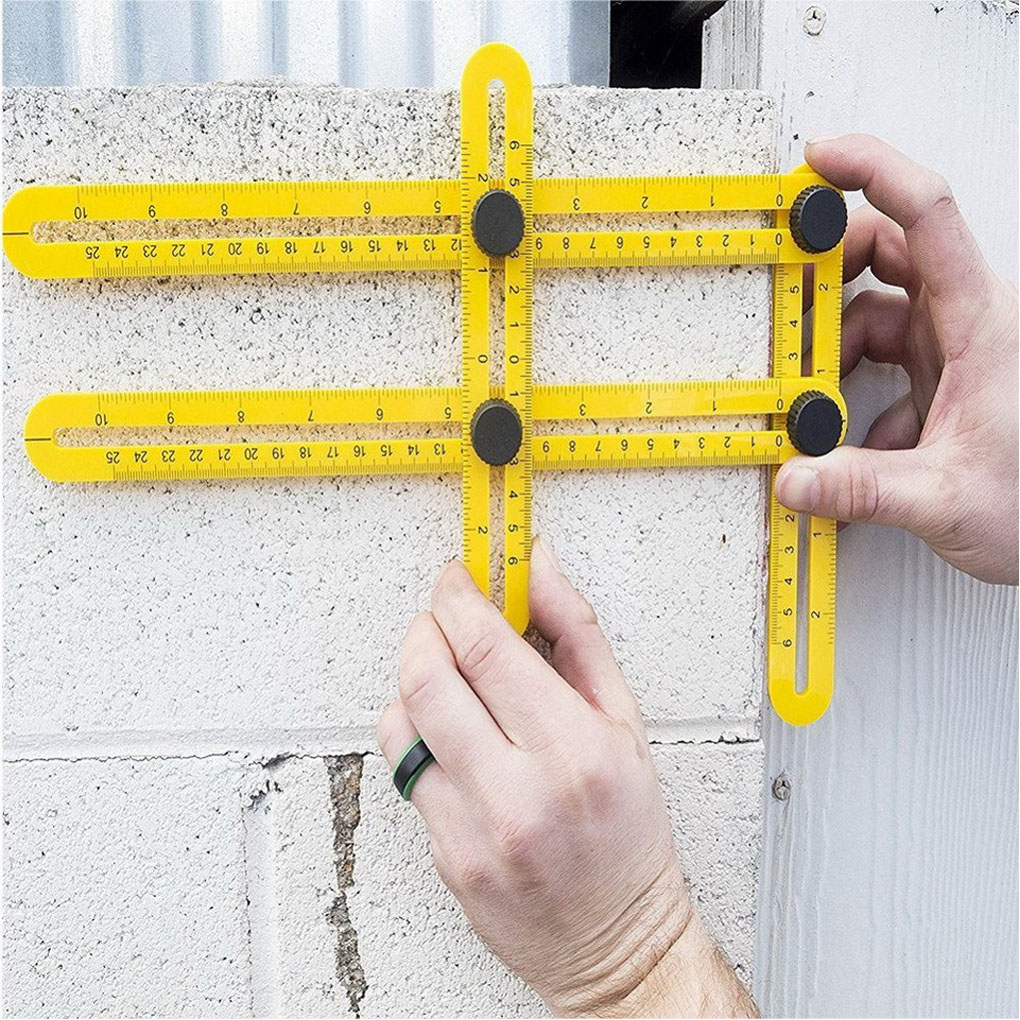 Four Sided Ruler Angleizer Template font b Measuring b font font b Instrument b font Gauging