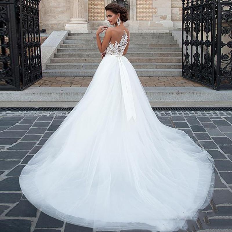 Sleeveless Wedding Dress 2019 Vintage Plus Size Bridal Gown