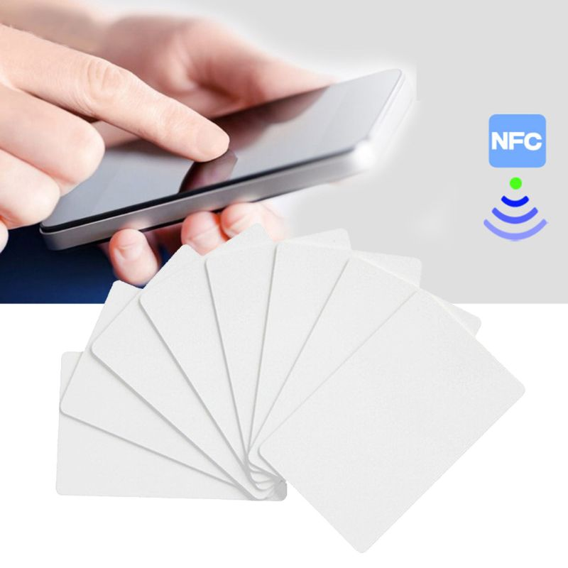 New 10PCS <font><b>NFC</b></font> <font><b>NTAG215</b></font> White Card For TagMo Tags Chip <font><b>Stickers</b></font> Tag Lable Forum Type2 <font><b>Sticker</b></font> for <font><b>NFC</b></font> Enabled Devices image