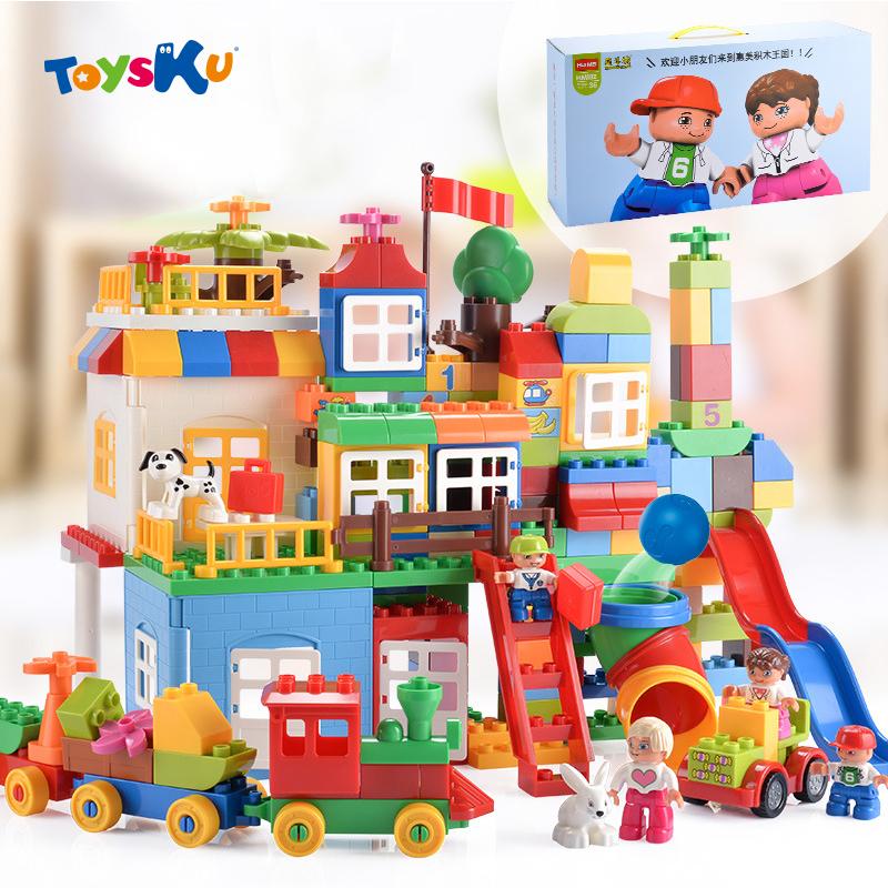 unids compatible con legoe parque infantil bloques grandes bloques de construccin juguetes educativos juguetes para