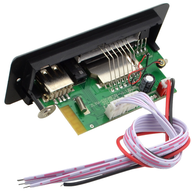Wholesale Brand New 7~12V Car Hands-Free Call Bluetooth MP3 Decode Board with Bluetooth Module+FM+Free Shipping-10000656