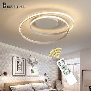 Image 2 - Hot Sale Modern LED Ceiling Lights For Living Room Bedroom Dining Room Luminaires White&Black Ceiling Lamps Fixtures AC110V 220V