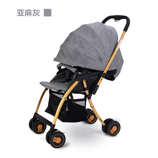 British style  luxury gold color Baby Stroller Simple solid color stroller carry bag with EMS free shipping