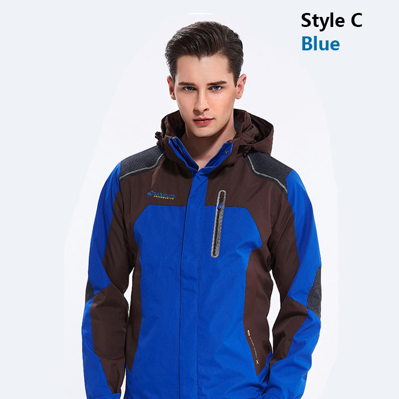 Hiking Jackets Hiking Clothings Men Outdoor Jacket Waterproof Ski Jacket Men Fishing Overcoat For Male Camping Hiking Men Clothes Warm Two Pieces Winter Coats