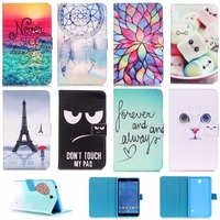 Fashion Painted With Stand Flip PU Leather For Samsung Galaxy Tab 4 T230 7 Inch Case