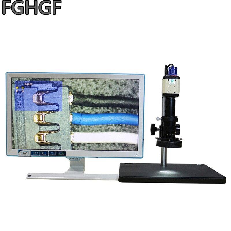 LCD Semi-Conducteur Fiber En Plastique Test Vidéo Microscope Grossissement 200 Fois Téléphone Mobile De Réparation VGA 2 Millions Pixel C Interfa