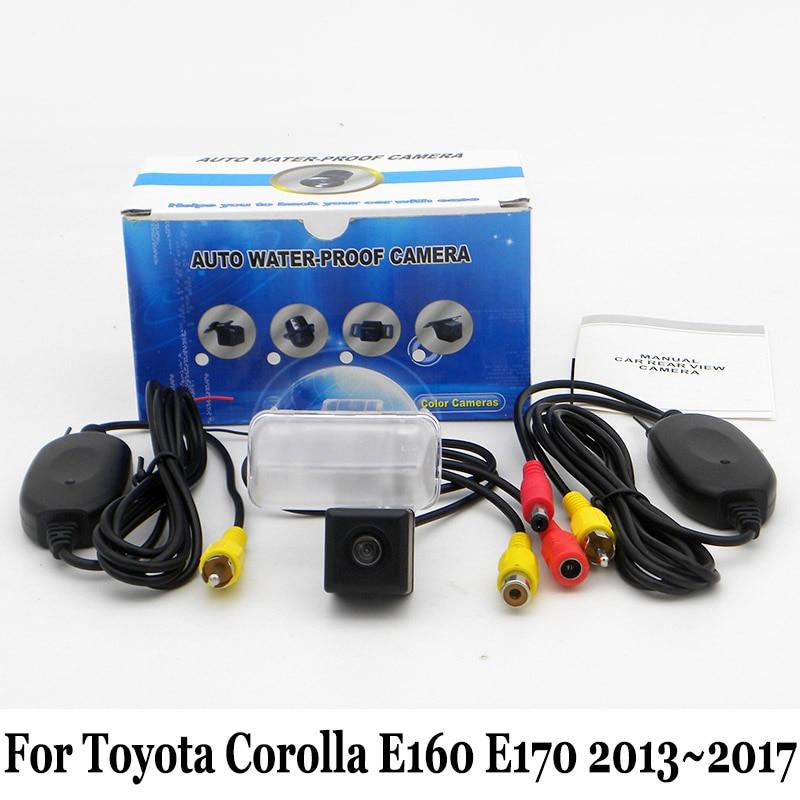 Для Toyota Corolla E160 E170 2012 ~ 2017 RCA AUX Провода или Беспроводной  парковка Камера HD Ночное видение авто заднего вида Камера 5d92f2be217