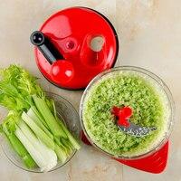 Red Multi functional Vegetable Dish Plastic Manual Meat Grinder Grain Crusher Manual Salt And Pepper Grinder Food Mixers Grinder