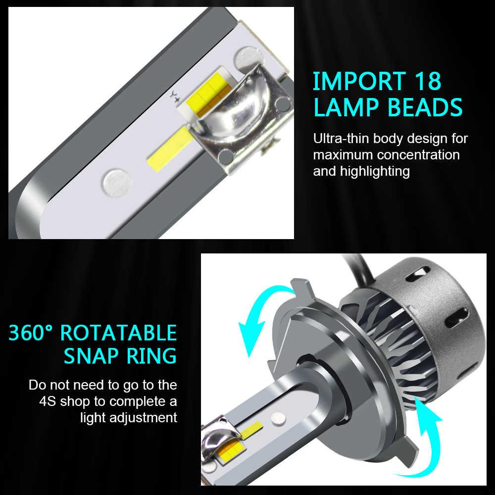60W ערפל פנס H11 H1 H4 H7 LED Canbus אין שגיאת רכב נורות 3 צבעים 6000K 4300K 3000K 9005 9006 H8 אוטומטי ערפל אורות 12V