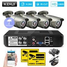 KERUI 1080N 4 Channel DVR Kit Outdoor Video Surveillance Camera Beveiligings Camera System with Night vision 2000TVL AHD Camera