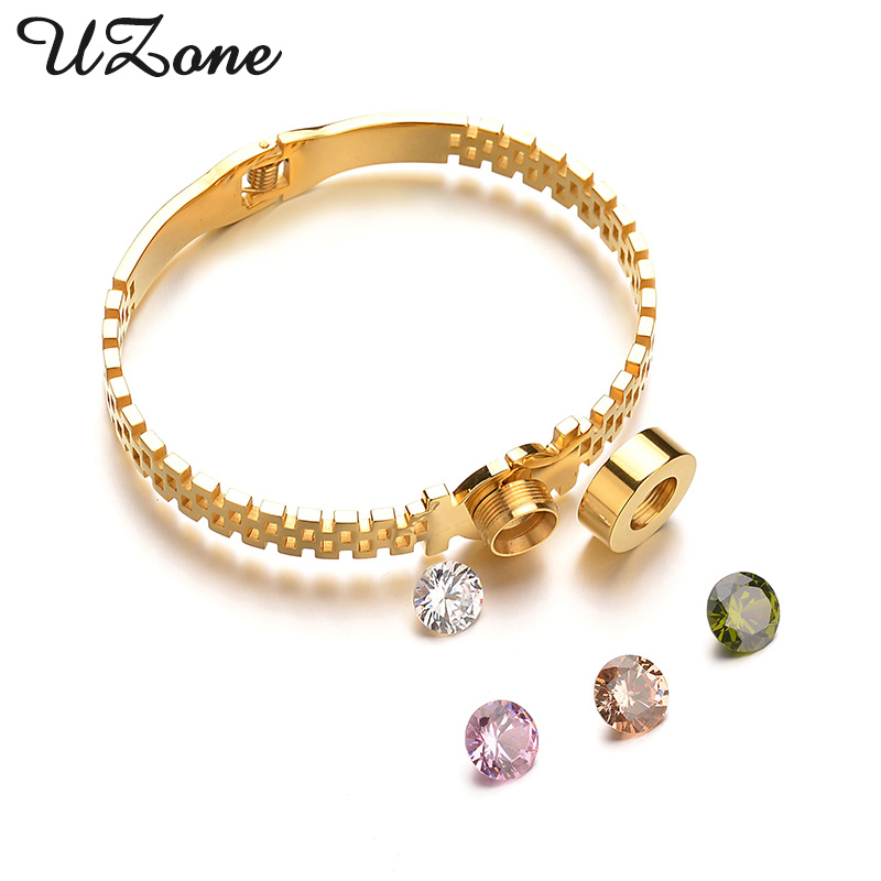UZone Novelty Stainless Steel Interchangeable Bracelets Famous Brand Crystal Women Bracelets Christmas Gift For Mom