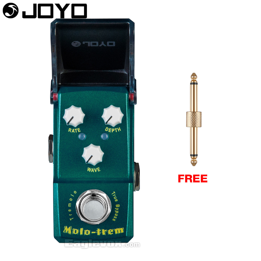 Joyo Ironman Molo-Trem Tremolo Guitar Effect Pedal True Bypass JF-325 with Free Gift Connector joyo ironman jf 317 space verb digital reverb guitar effect pedal true bypass