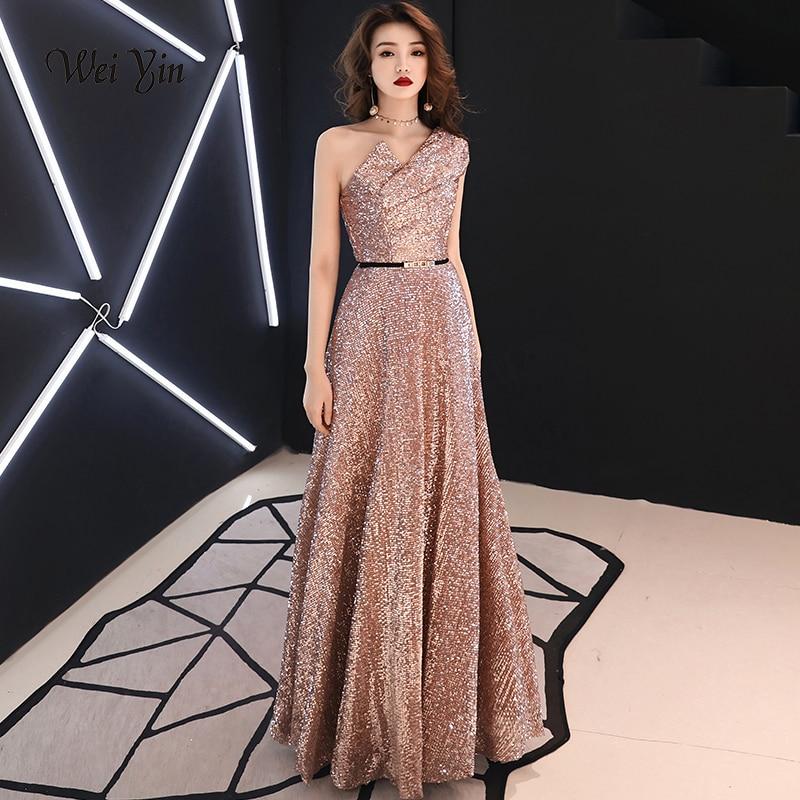 8917f2c8dc0ca US $59.40 weiyin Long Evening Dress Wine Red Back V Neck Shine ...