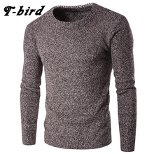 T-bird Fashion 2017 New Brand Men Sweaters Pullovers Knitting Warm Designer Men's Slim Fit Casual Knitted Man Knitwear Tops XXL