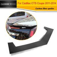 Углеродного волокна Гонки спойлер задний багажник Boot крыло для Cadillac CTS 2011 2014