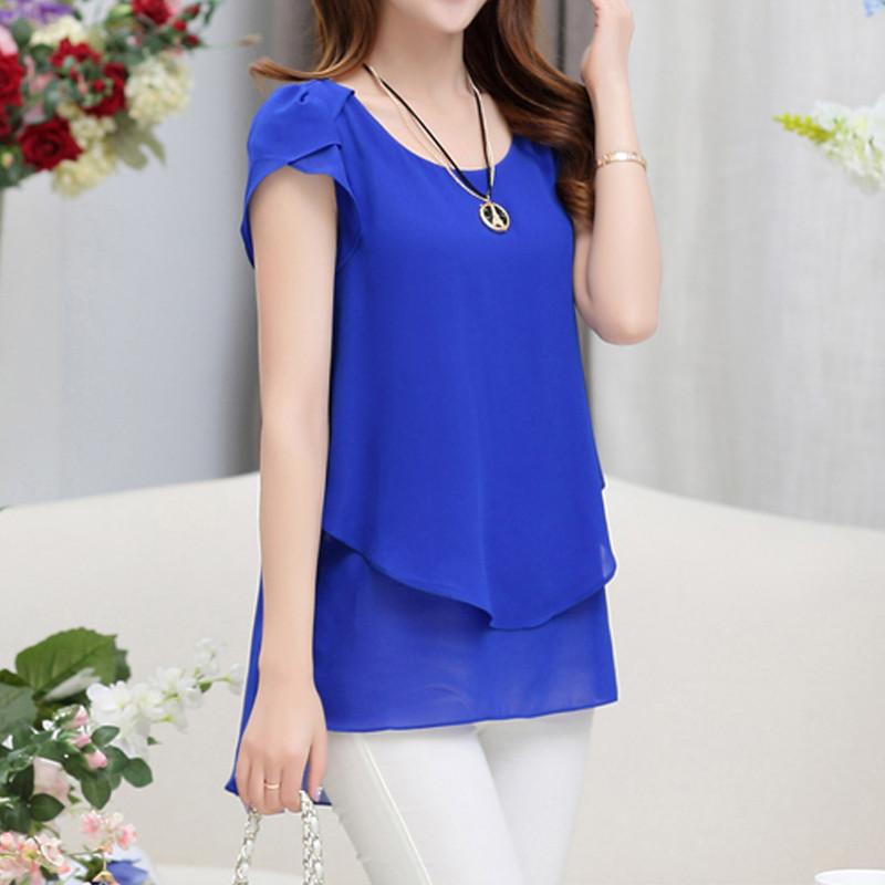 short sleeve chiffon blouse (21)
