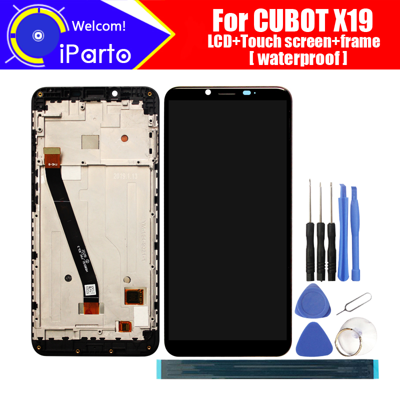 5 93 inch CUBOT X19 LCD Display Touch Screen Digitizer Frame Assembly 100 Original LCD Touch