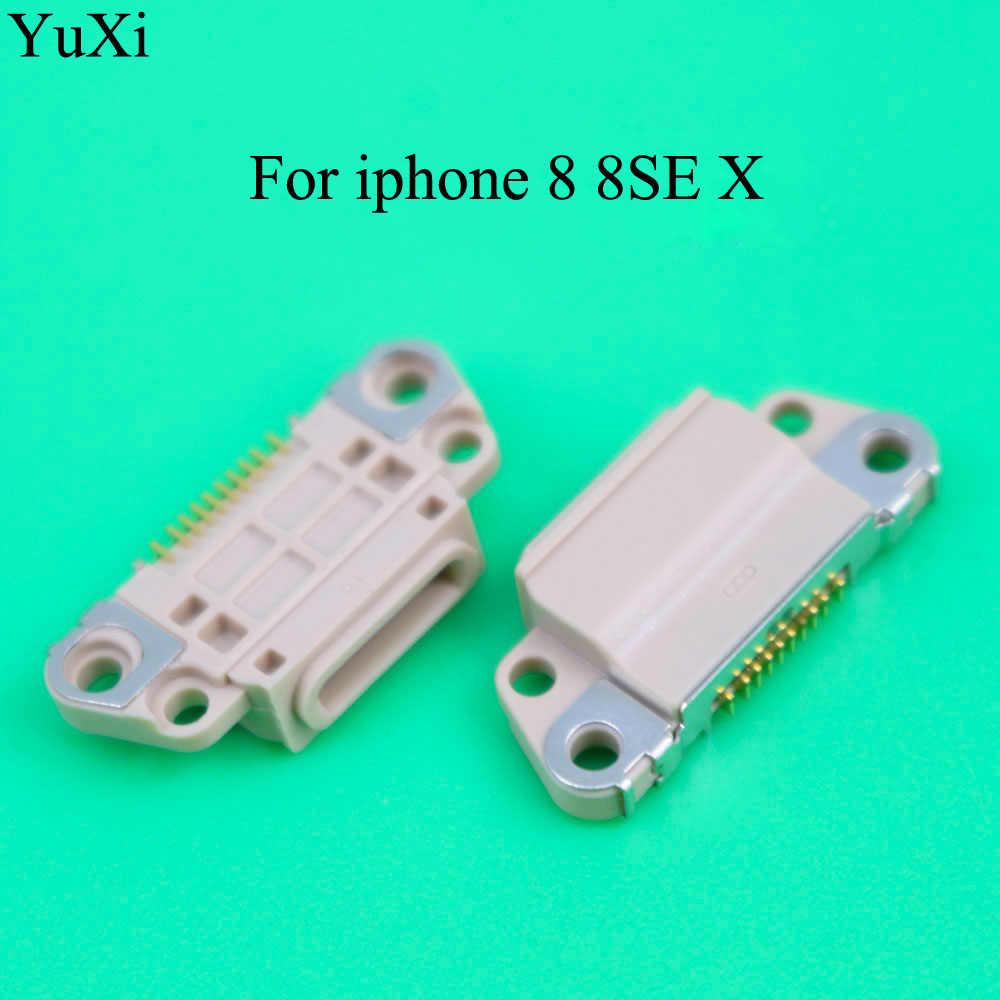 YuXi Micro Usb Opladen Connector voor iPhone 8 8SE X Charge Port Dock Socket Plug Jack
