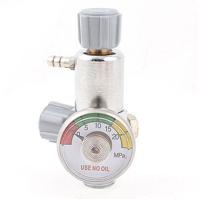 20MPa Metal 16.8mm Male Thread Oxygen Pressure Control Valve Regulator Gauge medical oxygen regulator pressure flowmeters hot sales