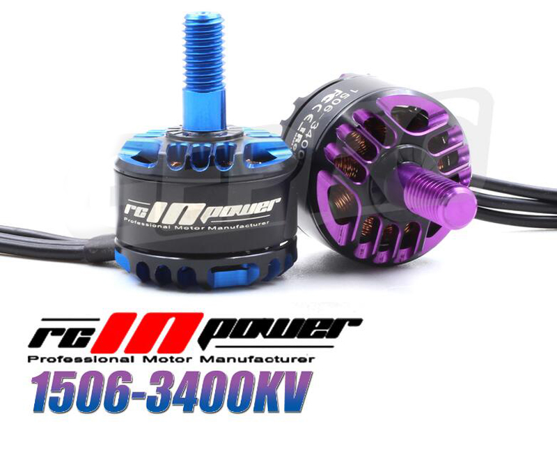 RC IN POWER 1506 3400KV indoor brushless motor FPV small motor for RC model airplane spare parts quadcopter multicopter drone 4set lot universal rc quadcopter part kit 1045 propeller 1pair hp 30a brushless esc a2212 1000kv outrunner brushless motor