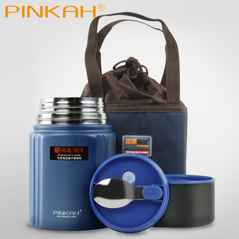 Pinkah 750ML 304 stainless steel vacuum thermos food jar keep hot 24 hours thermos lunch box