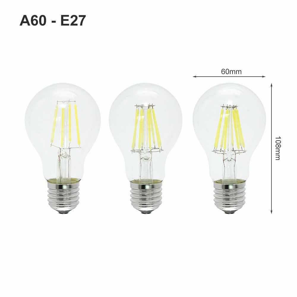 ANBLUB Dimmable E27 Led Bulb 2w 4w 6w 8w Edison Filament COB Lamp 360 Degree 220V Retro Globe Lighting Indoor Living Room
