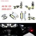 14 unids LED Canbus Luces Interiores Paquete Kit Para Audi A6 S6 C6 (2005-2011)