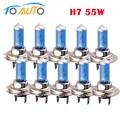 10 шт. H7 галогенные 55w 12V светодиодные фары лампы 6000 К Автомобильные фары лампы белого авто фары - фото