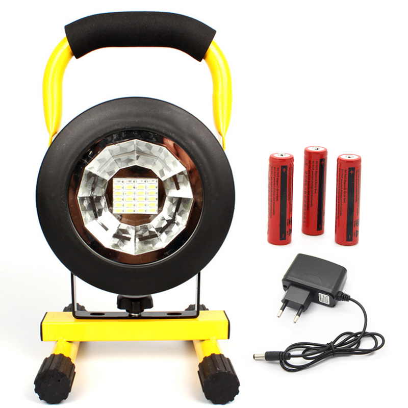Waterproof IP65 30W 24LED 3 Model LED Floodlight Portable SpotLights Outdoor Flood light with Rechargeable 18650 battery 3.7V portable 10w rechargeable led flood light waterproof hand carry outdoor led floodlight with detachable battery freeship f024 1b