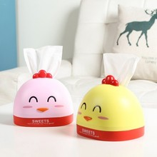 BF040 Creative Chicken style paper towel box living room home cute chicken tissue 17*15*12cm Free shipping