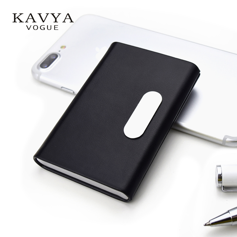 KAVYAVOGUE NEW Brand Designer Genuine Leather Card Holders Namecard ID Card Cases Business Card Box Organizer Bank Card Holders