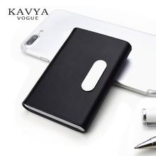 KAVYAVOGUE NYHET Brand Designer Äkta Läder Kortinnehavare Namecard ID-kort Fodral Visitkort Box Organizer Bankkortinnehavare