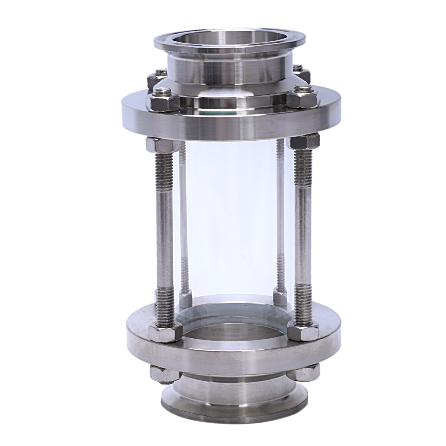 In-Line Sight Glass With Clamp End,Flow Sanitary Straight Sight Glass SUS316 2 Inch Tri Clamp Type (Flow Pipe OD 51MM)