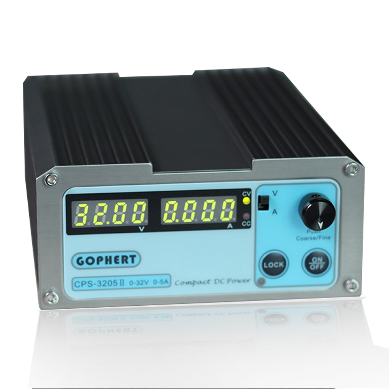 CPS-3205II Wholesale precision Compact Digital Adjustable DC Power Supply OVP OCP OTP low power 32V5A 110V-230V DC power  supply 1 pc cps 3220 precision compact digital adjustable dc power supply ovp ocp otp low power 32v20a 220v 0 01v 0 01a