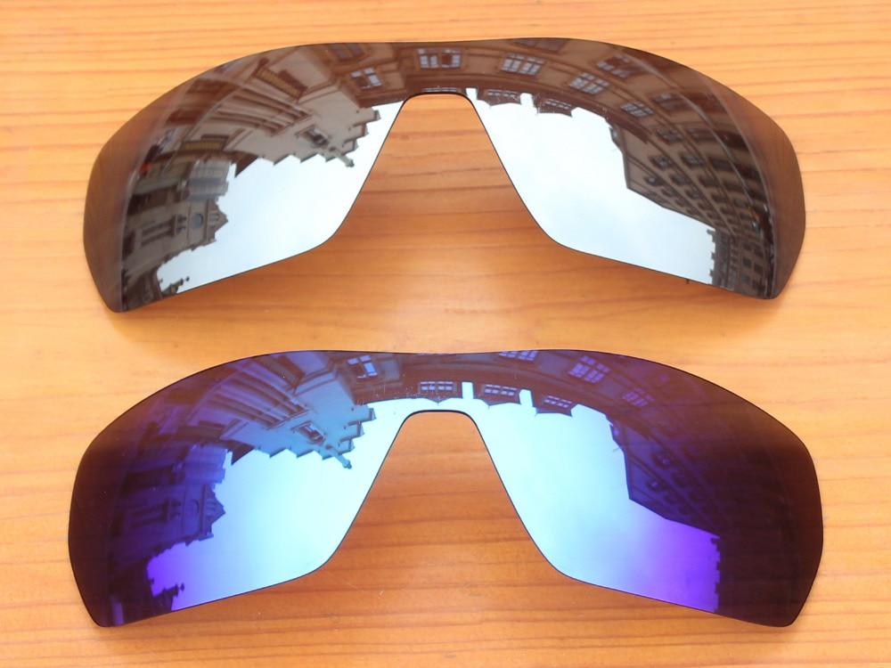Chrome Argent   Ice Bleu 2 Pièces Miroir Polarisé verres de Remplacement  Pour Émanation lunettes de Soleil Cadre 100% UVA et UVB Protection 31cfdcfd16bf