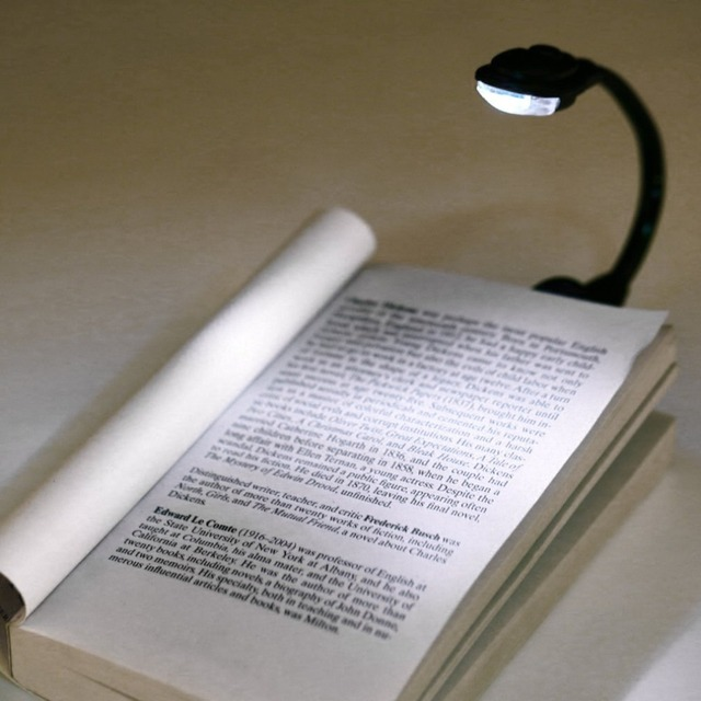 Mini Flexible Clip On Bright Book Light Night Lamp Small Weight For Laptop White Led Reading With Soft New