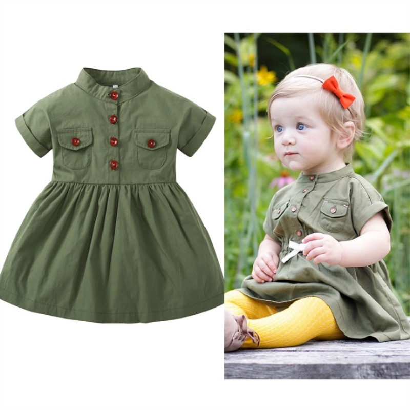Baby Girls Clothes Summer Dress Sleeve Newborn Infant Dresses Cotton New Fashion Toddler