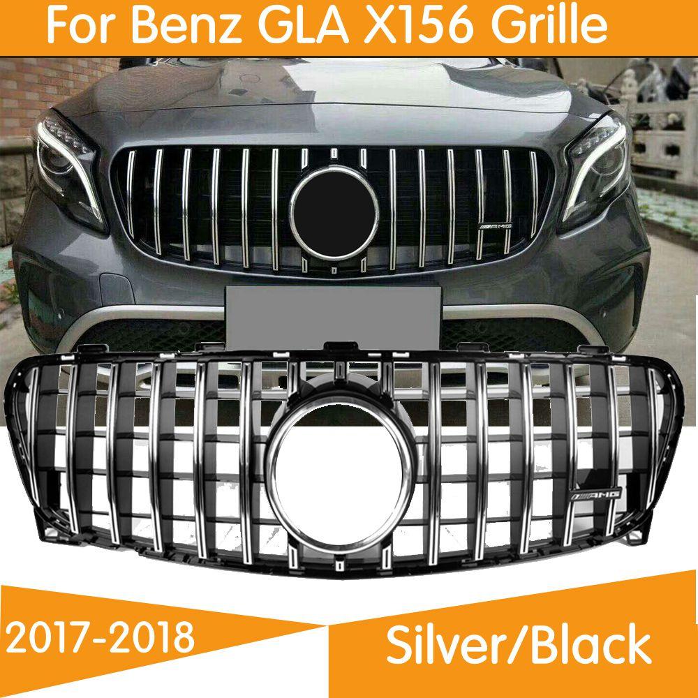 Pour GLA classe X156 Amg GT R gril GLA45 Style Grille avant pour Mercedes Benz GLA250 GLA180 2017-2018 grille de pare-chocs avant