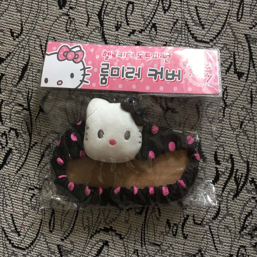 Universal hello kitty rearview mirror cover car interior - Hello kitty car interior accessories ...