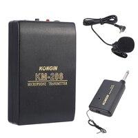 Mayitr 1 шт. беспроводной FM передатчик приемник KM-208 нагрудные клип на микрофон системы набор для свадьбы