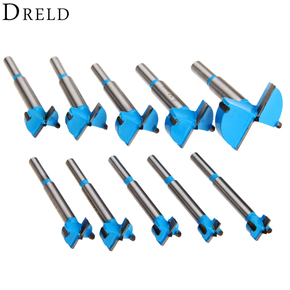 10Pcs 15mm-50mm Woodworking Tools Carbide Forstner Auger Drill Bits Set Hole Saw Drill Bits Cutter Tool Wood Drilling Power Tool free shipping 45 83mm tct wood hinge boring hole saw drill bit cutter set auger carbide tipped bits for wood plastic drilling