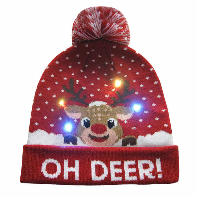d5678b4ff957e4 Detail Feedback Questions about 2018 Women's Novelty LED Light up Knitted  Beanies Hat Boys Ugly Sweater Holiday Xmas Christmas Hats For Men Girls Led  Light ...