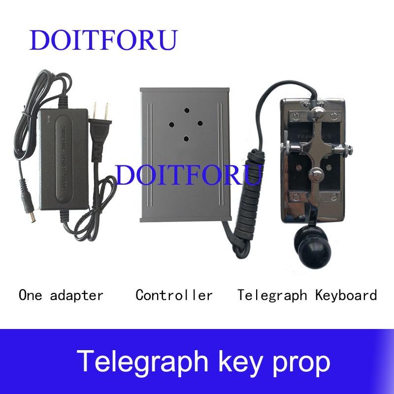 Morse Code Device Escape Room Adventurer Game Prop Enter Password Code Via Telegraph Keyboard To Unlock Run Away Chamber Room