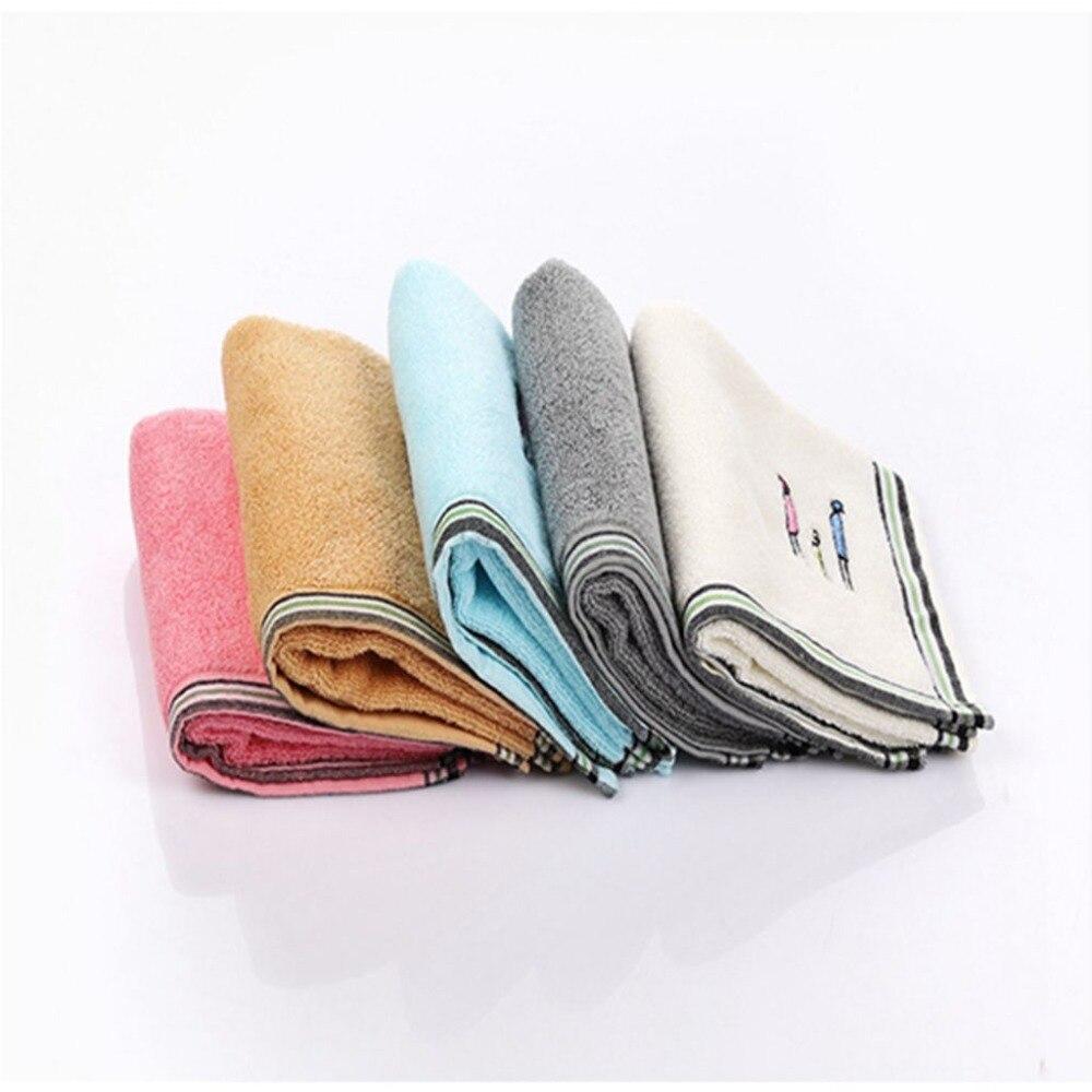 Nuevas llegadas de algodón toallas Simple familia bordado toallas de ...