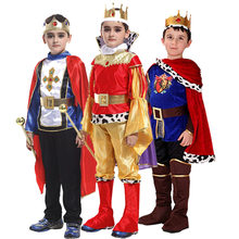 Halloween Cosplay kids Prince Costume for Children The King Costumes Christmas Boys Fantasia European royalty clothing(China)