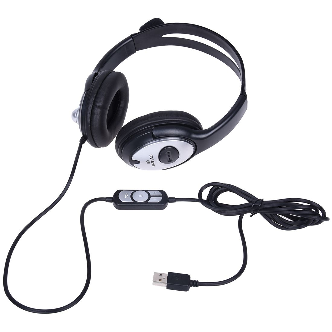 HOT-USB Stereo Headphone Earphone with MIC for Gaming Console Surround Sound PC Headset huhd 7 1 surround sound stereo headset 2 4ghz optical wireless gaming headset headphone for ps4 3 xbox 360 one pc tv earphones