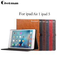 Gold Medal Crazy Horse Smart Case For IPad Air Ipad 5 Cover Stand Tablet Books Case