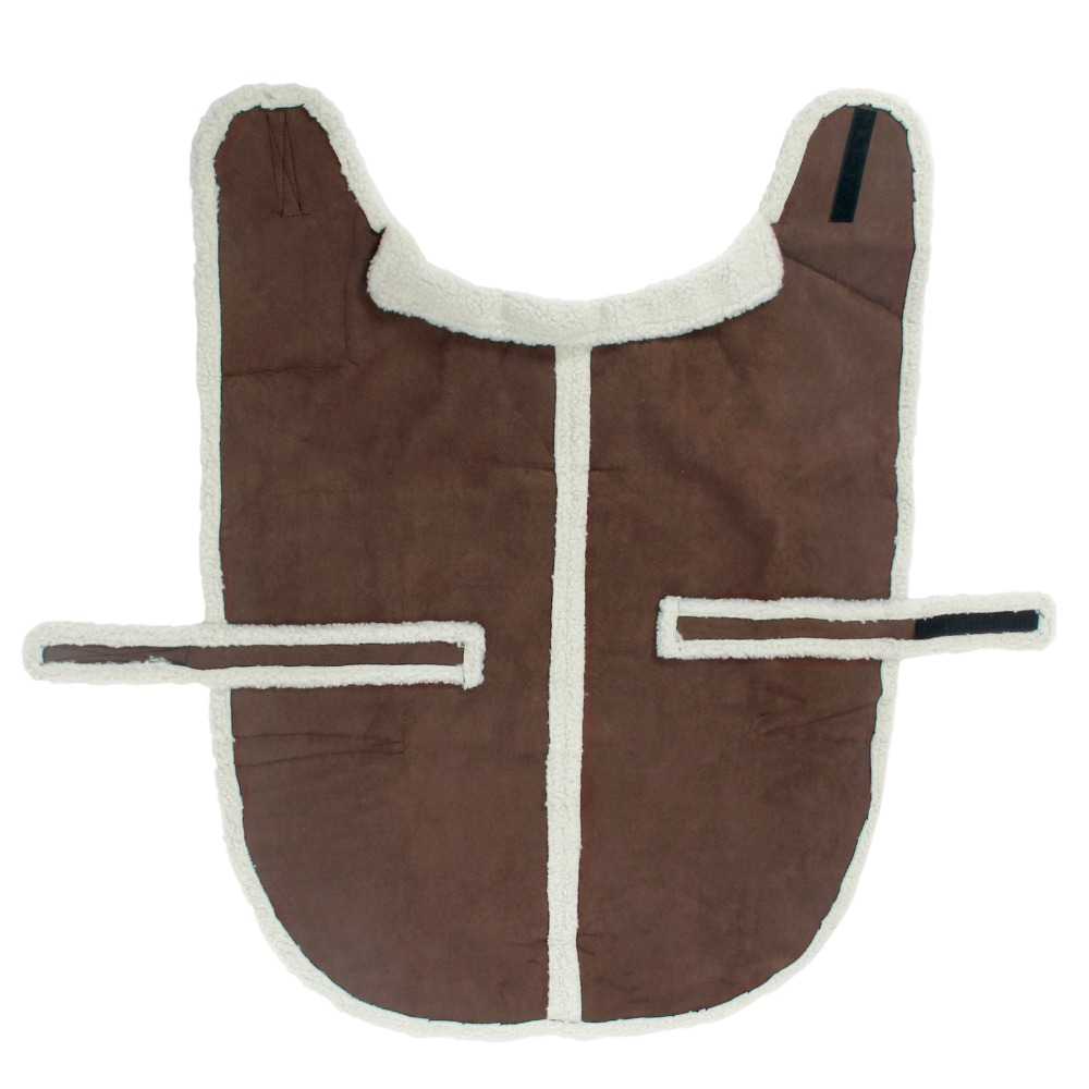 Free Shipping Suede Fabric Dog Clothes Winter Warm clothing for dogs Jacket Pet Dog Coat Beige Brown Color Cat Puppy Apparel